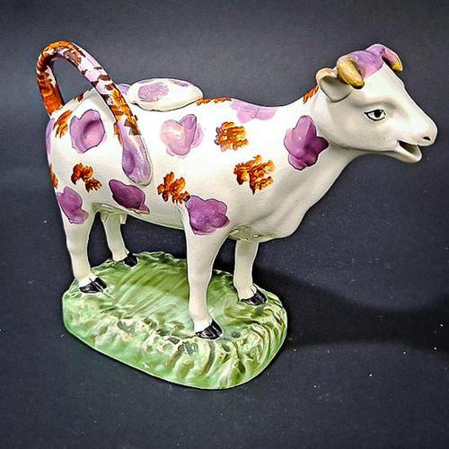 Swansea Cambrian Pottery Cow Creamer (1 of 7)