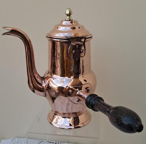 Antique English Late Georgian Copper Coffee Pot (1 of 7)