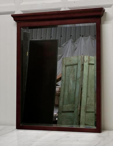 Large Mahogany Wall Mirror (1 of 5)
