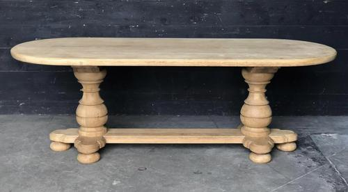 Bleached Oak Farmhouse Dining Table (1 of 12)