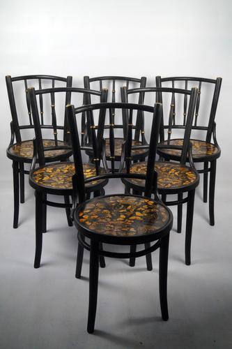 Decorated Bentwood Chairs (1 of 6)