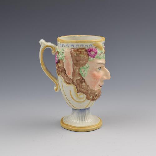 Staffordshire Pottery Bacchus Satyr Frog Mug c.1810 (1 of 7)
