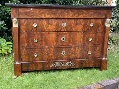 French Empire Commode in Flame Mahogany (1 of 10)