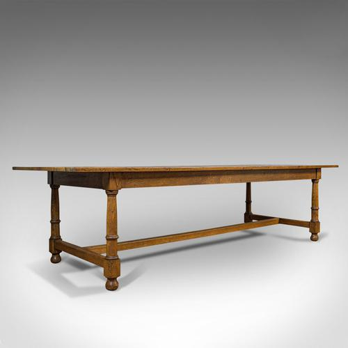 Large, Antique Refectory Table, Scottish, 8 Seat, Oak, Dining, Victorian c.1870 (1 of 11)