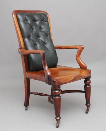 19th Century Heals of London library chair (1 of 10)