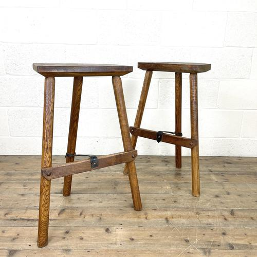 Pair of Rustic Wooden Cutler's Stools (1 of 10)