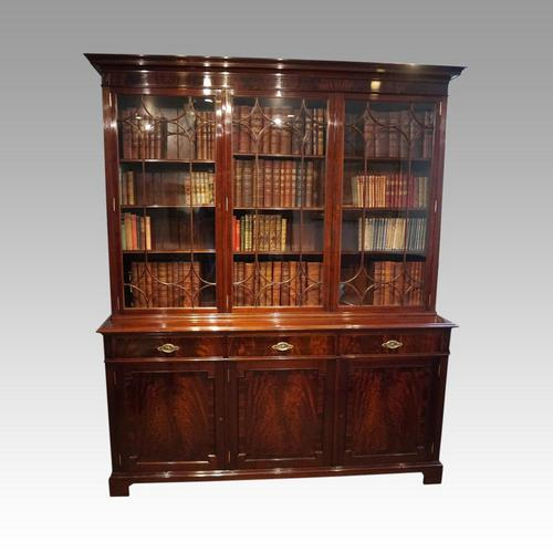 Edwardian Mahogany Library Bookcase (1 of 20)
