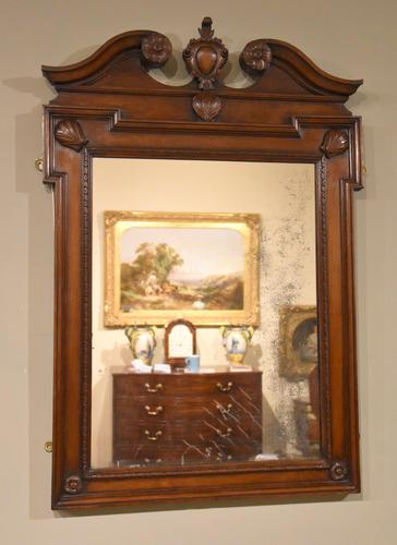 Early 18th Century Black Walnut Carved Wall Mirror (1 of 5)