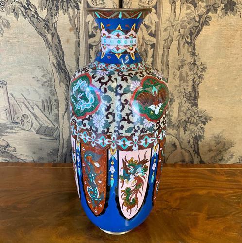 19th Century Japanese Cloisonné Vase (1 of 4)