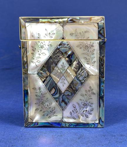 Victorian Abalone & Mother of Pearl Card Case (1 of 11)