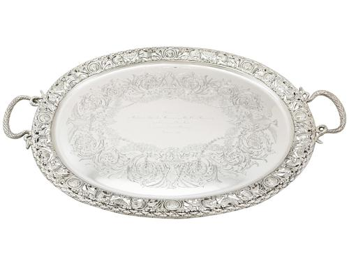 Sterling Silver Tea Tray by Mappin & Webb Ltd - Antique Victorian 1894 (1 of 12)