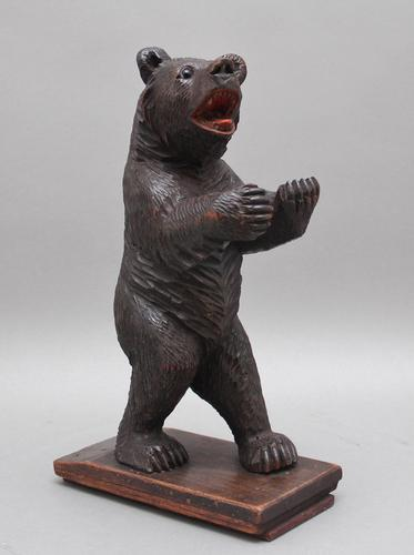 19th Century Black Forest Carved Bear (1 of 11)