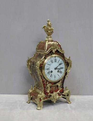 French Louis XV Style Boulle Mantel Clock Retailed by R&C (1 of 9)