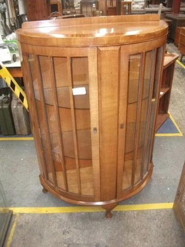 Glazed Walnut Display Cabinet (1 of 2)