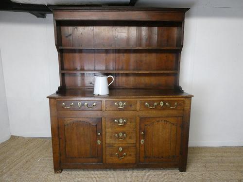 Neat 18th Century Oak Dresser (1 of 10)