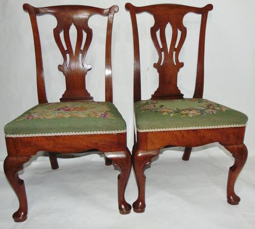 Pair of George II Walnut Chairs (1 of 6)
