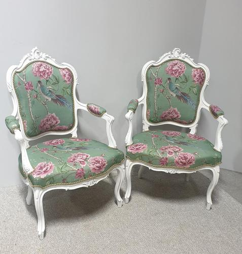 Wonderful Pair of French Painted Chairs (1 of 13)
