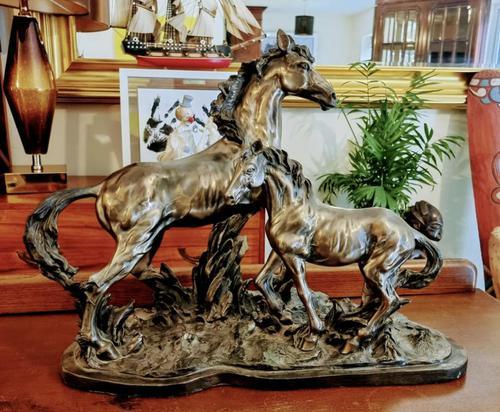 Mare & Foal Brass Fairestware - Heavy (1 of 5)