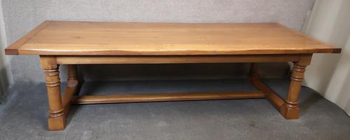Large Solid Oak Refectory Table / Farmhouse Dining Table - Seats Ten (1 of 11)