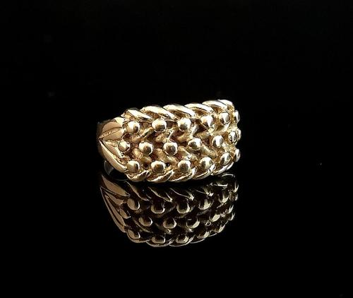 Antique Edwardian 9ct Gold Keeper Ring (1 of 13)