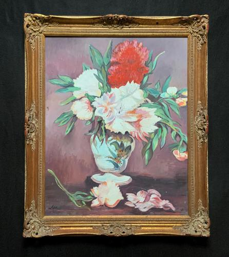 Large Original Gilt Framed 20th Century Impressionist Still Life Floral Oil Painting (1 of 12)