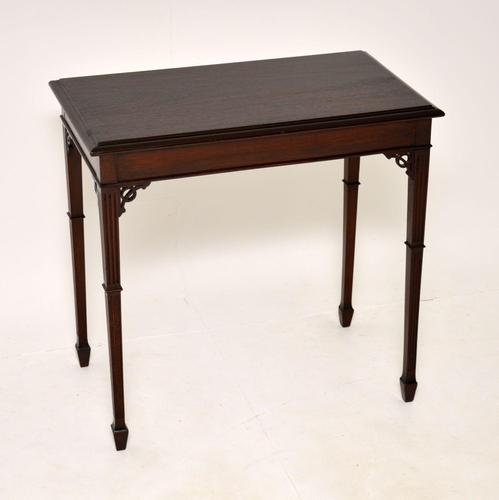 Antique  Edwardian Mahogany Side Table (1 of 7)