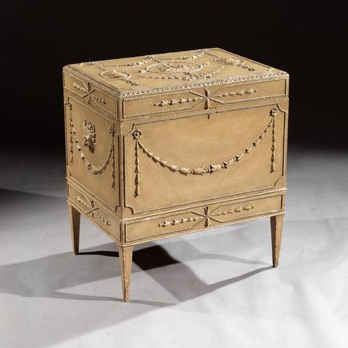 19th Century Painted Carton Pierre Chest / Cellaret in the Adam Neoclassical Style (1 of 15)