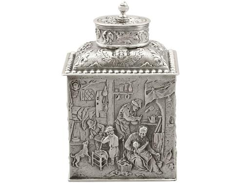 Sterling Silver Tea Caddy - George V 1925 (1 of 15)