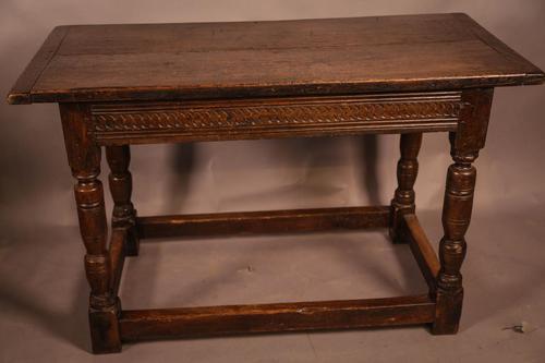 17th Century Oak Side Table (1 of 11)