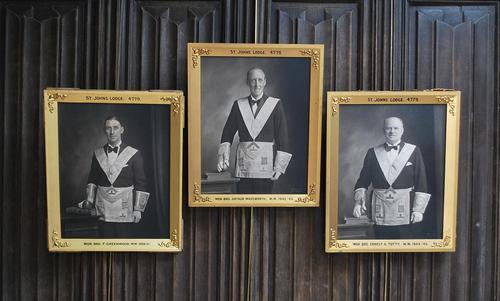 Set of Three Masonic Photographs (1 of 6)