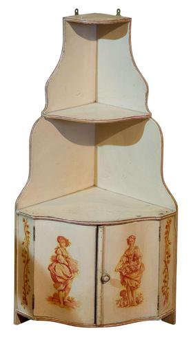 A Painted French Corner Cabinet c1900 (1 of 5)