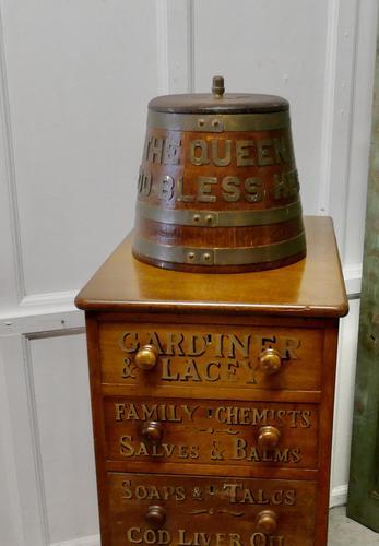 "Royal Navy ""Grog Tub"", Oak and Brass Sailor's Rum Barrel (1 of 9)"