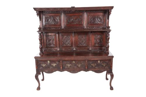Fantastic 19th Century Antique Carved Oak Dresser (1 of 14)