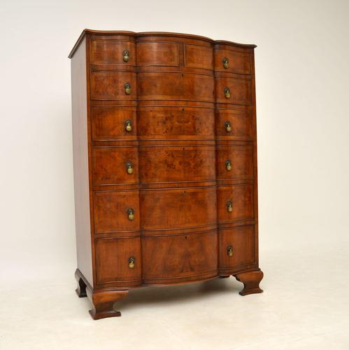 Large Antique Burr Walnut Chest of Drawers (1 of 11)