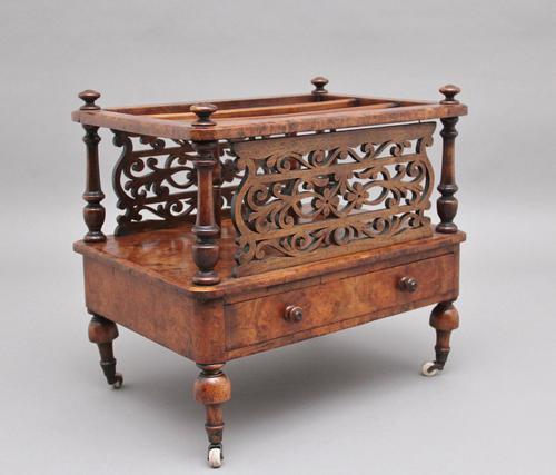 19th Century Burr Walnut Canterbury of Nice Proportions (1 of 10)