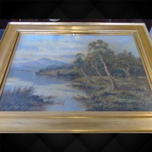 Oil on The Conway by Sidney Yates Johnson (1 of 6)