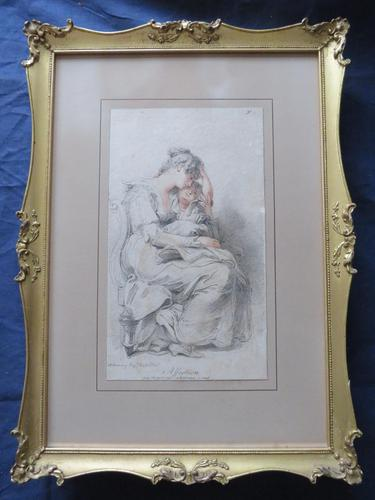 "Richard Cosway 1802 Aqua Tint Stipple Engraving ""Affection"" (1 of 7)"