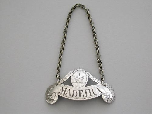 George III Silver Wine Label 'madeira', By Phipps & Robinson, London, C1790 (1 of 6)