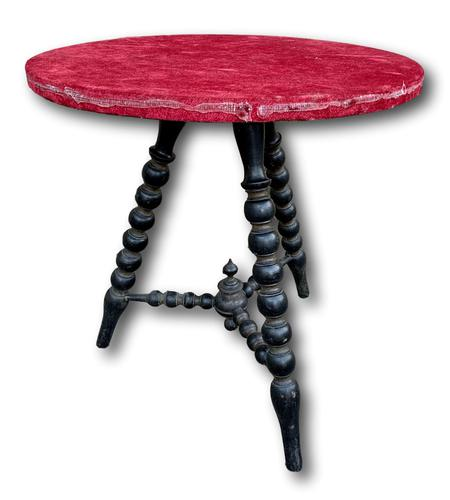 19th Century Gypsy Bobbin Table With Red Felt Top (1 of 5)