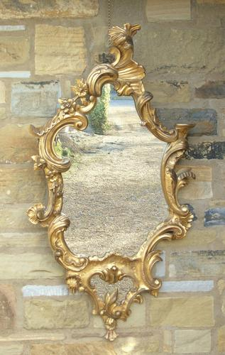 Good Antique Giltwood Rococo Mirror (1 of 7)