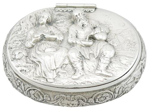 Dutch Silver Tobacco Box - Antique Circa 1690 (1 of 12)