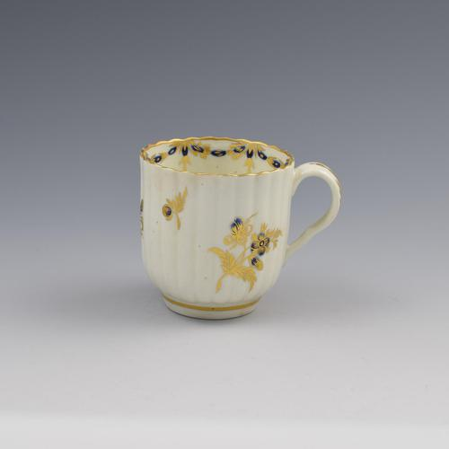 First Period Worcester Porcelain Fluted Coffee Cup c.1775 (1 of 7)