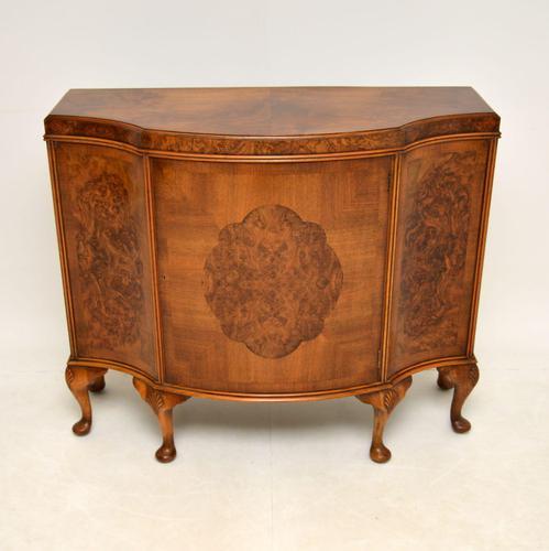 Antique Burr Walnut Cabinet / Sideboard (1 of 11)