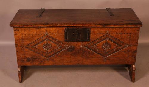 17th Century 5 Plank Coffer (1 of 9)