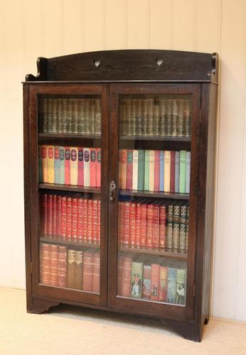 Arts & Crafts Dark Oak Bookcase (1 of 9)
