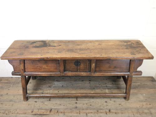Unusual Oriental Elm Altar Table Sideboard (1 of 18)