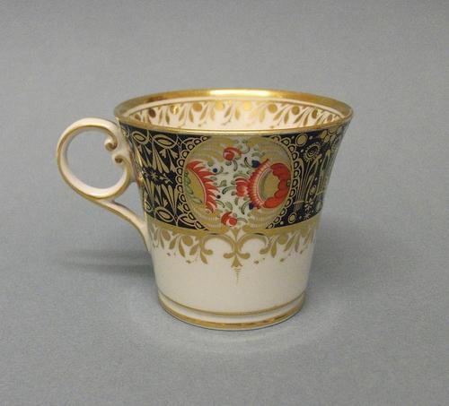 Chamberlain's Worcester Bucket Shape Coffee Cup c.1820 (1 of 7)