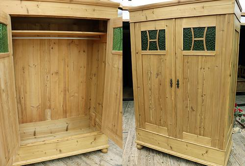 Fabulous Old Pine Knock Down 'arts & Crafts' Double Wardrobe  - We Deliver & Assemble! (1 of 16)