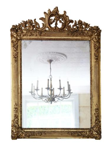 19th Century Large Quality Gilt Wall / Overmantle Mirror (1 of 7)