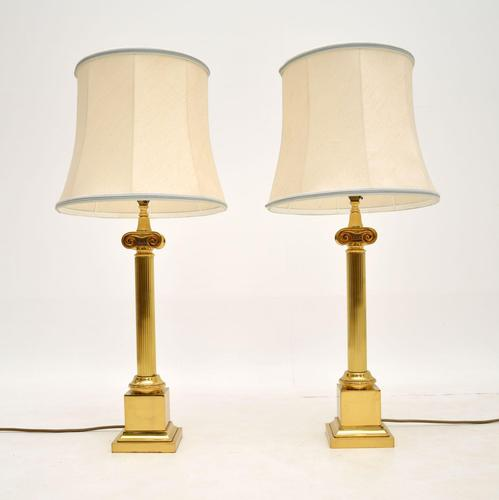 Pair of Large Vintage Brass Table Lamps (1 of 7)
